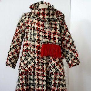 Vintage Lilli Ann Tweed Coat Size 6-8 1960s